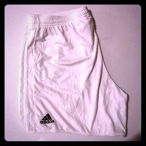 Women's adidas soccer shorts.